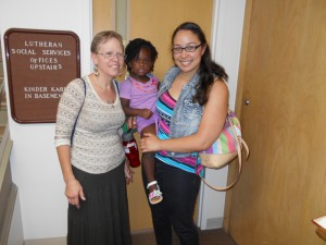 Ruth Sharper, left, attends one of the talent shows with her granddaughter and daughter.