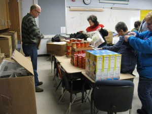 Packing weekend meals for Gladwin students – by Cari McNicol