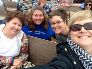 From left: Pastors Chrysanne Timm, Dana Hendershot, Emily Olsen, and Sarah Frieser-Carpenter head to Mackinac Island.