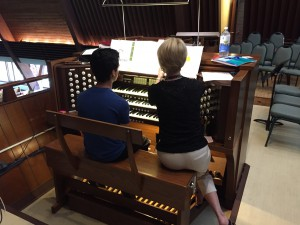 Kids can opt for organ lessons from Trinity's principal organist.