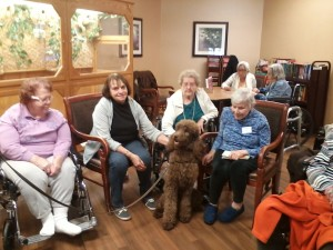The dogs' presence raise the spirits of the Medilodge residents and staff.