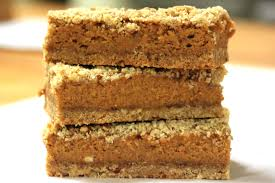 Pumpkin cookies or bars work well because they are finger food.