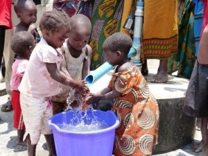 Experiencing clean, safe water for the first time.