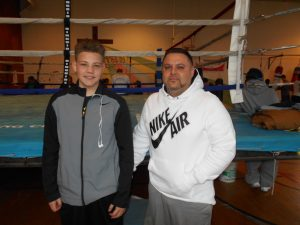 """Jayden Rodriguez (left) with his father: """"I just focused and remembered what I'd learned."""""""