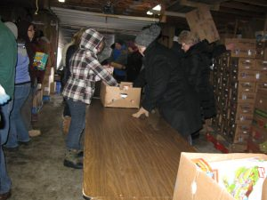 Christ the King, Gladwin, laid the foundation for a regular visit by a mobile food pantry. Other churches and organizations are also involved as sources of funding and volunteers.